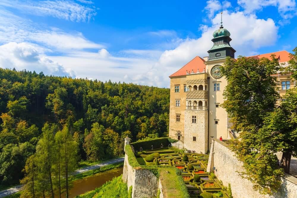 Castle Pieskowa Skala near Krakow