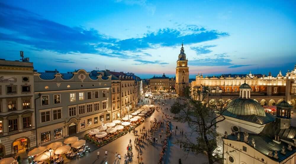 Krakow CITY main square view