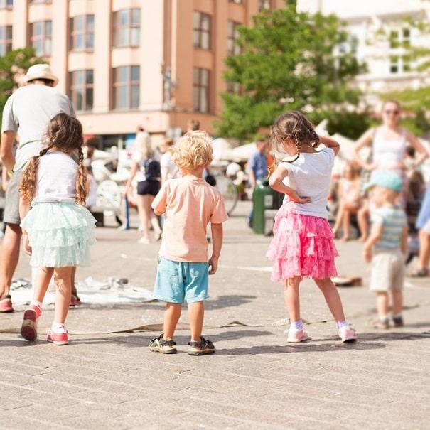 Family, kids in Krakow