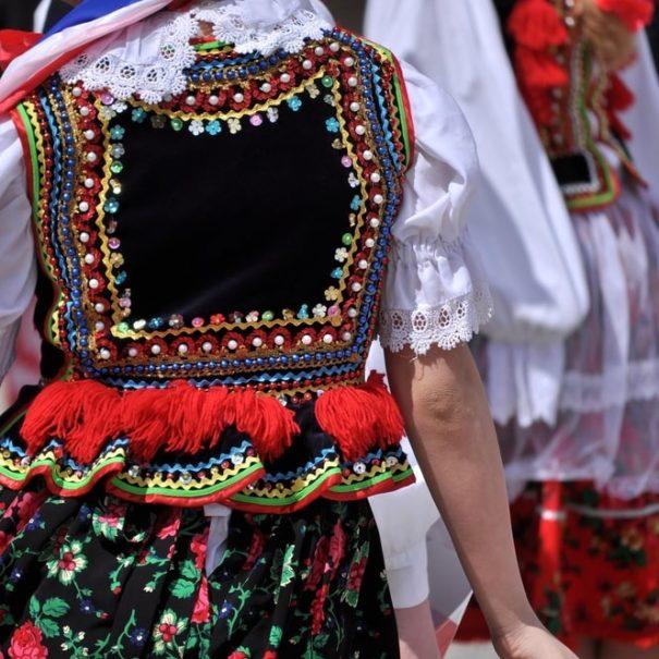 Polish folk costumes. Krakow.