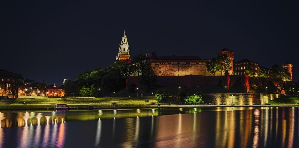 Krakow at night