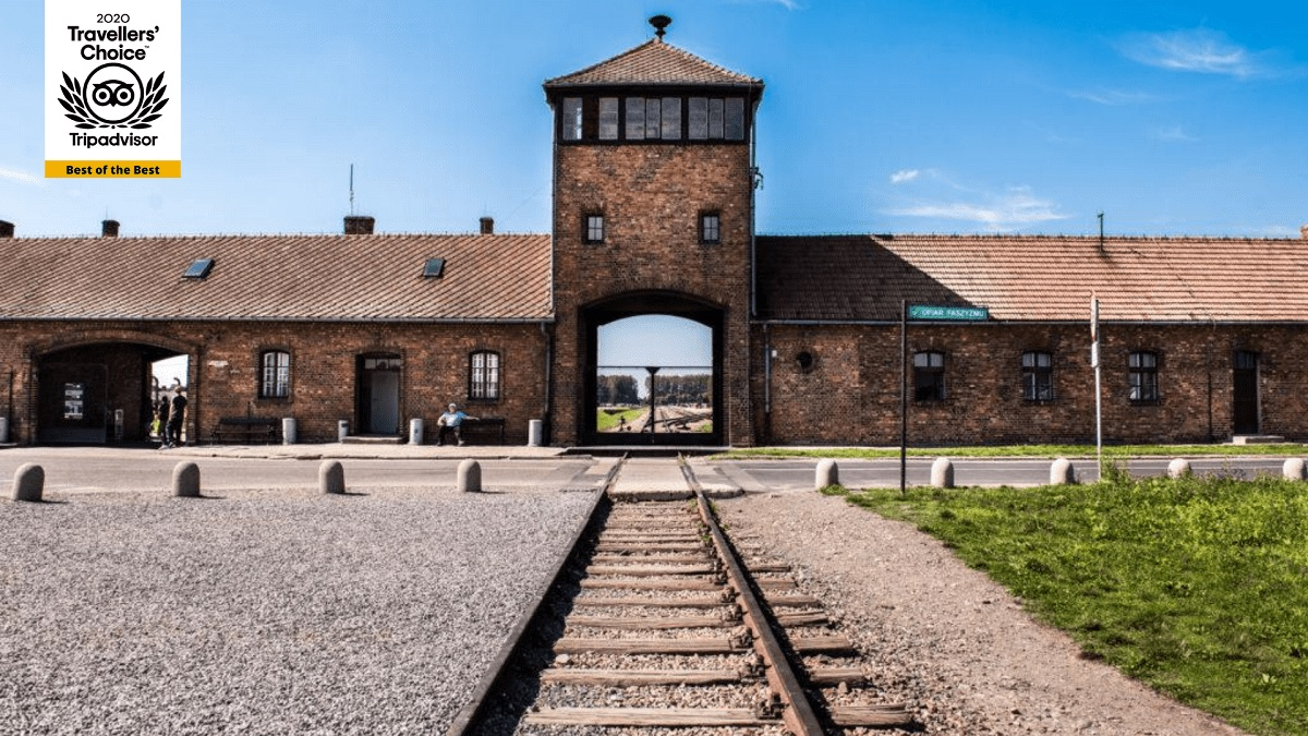 A picture of Auschwitz Birkenau, with Traveler's Choice Best of the Best award for MrShuttle
